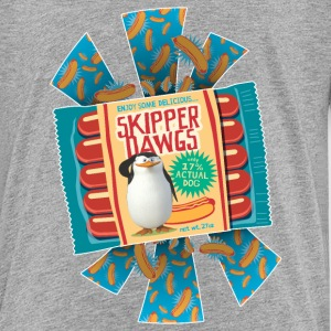 Penguins of Madagascar Skipper Dawgs Teenager T-Sh - Teenage Premium T-Shirt