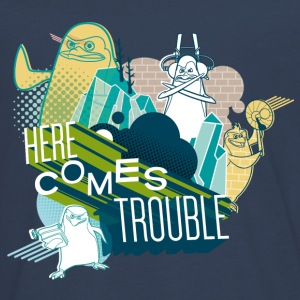Pingouins de Madagascar Here comes trouble Tee shi - Tee shirt manches longues Premium Ado