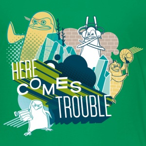 Penguins of Madagascar Here comes trouble Kid's T- - Kids' Premium T-Shirt