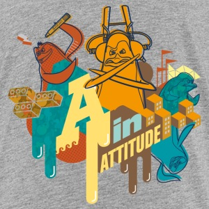 Penguins of Madagascar A in Attitude Teenager T-Sh - Teenage Premium T-Shirt