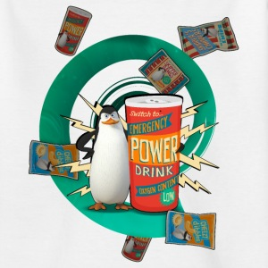 Penguins of Madagascar Power Drink Teenager T-Shir - Teenage T-shirt