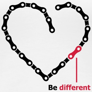 be different Kette Herz funny Chain Heart T-Shirts - Frauen Premium T-Shirt