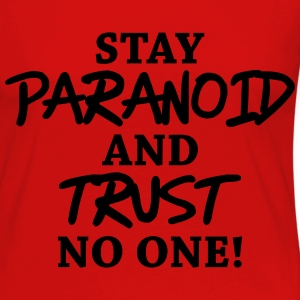 Stay paranoid and trust no one! Long Sleeve Shirts - Women's Premium Longsleeve Shirt