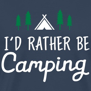 I\\\'d Rather Be Camping T-shirts - Herre premium T-shirt