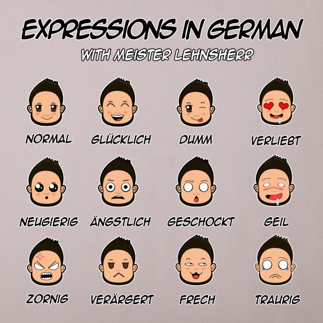 German Expressions Pillow Case
