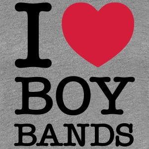 I Love Boybands T-Shirts - Frauen Premium T-Shirt