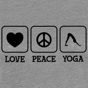 Love, Peace, Yoga T-Shirts - Frauen Premium T-Shirt