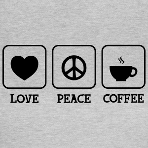 Love, Peace, Coffee T-shirts - Dame-T-shirt