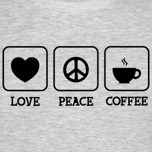 Love, Peace, Coffee T-Shirts - Men's T-Shirt