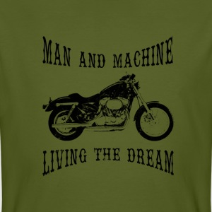Man & Machine Living The Dream Bikers t-shirt - Men's Organic T-shirt