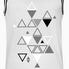 graphic pattern of triangles Sports wear