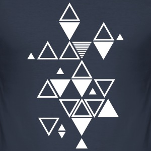 graphic pattern of triangles T-Shirts - Men's Slim Fit T-Shirt