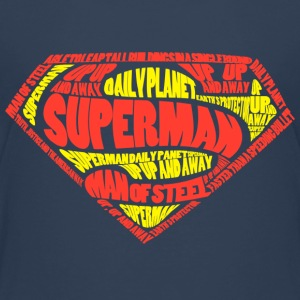 Superman Logo Text Teenager T-Shirt - Teenager Premium T-Shirt