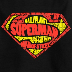Superman Logo Text Teenager T-Shirt - Teenager T-Shirt
