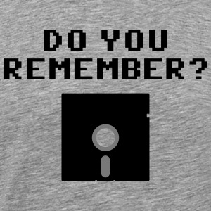 DO You Remember? (Floppy Disk 5 1/4) T-shirts - Herre premium T-shirt