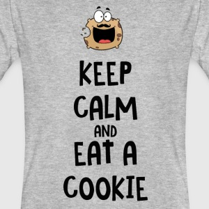 T-shirt bio keep calm and eat cookie - T-shirt bio Homme