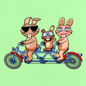 Familie Hase fährt Tandem Baby T-Shirts - Baby T-Shirt
