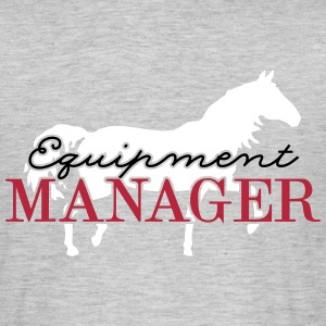 Equipment Manager Pferd 3C - Männer T-Shirt