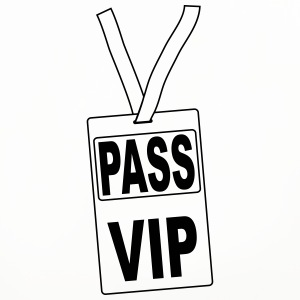 pass_vip_pv1 Mugs & Drinkware - Coasters (set of 4)