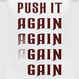Push it again gain red T-Shirts - Frauen T-Shirt mit V-Ausschnitt