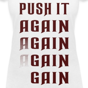 Push it again gain red T-Shirts - Women's V-Neck T-Shirt