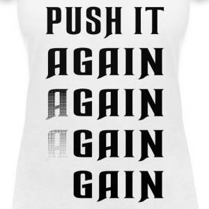 Push it again gain black T-Shirts - Frauen T-Shirt mit V-Ausschnitt