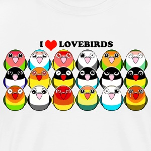 Lovebird colour mutations - Men's Premium T-Shirt