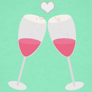 Champagne glasses with hearts T-Shirts - Men's T-Shirt