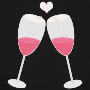 Champagne glasses with hearts Shirts - Kids' Premium T-Shirt