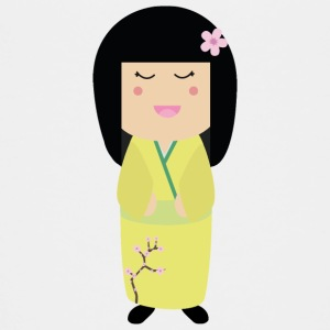 Geisha kokeshi doll Shirts - Teenage Premium T-Shirt