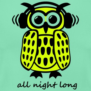 coole Eule Kopfhörer Owl Headphones all night long T-Shirts - Frauen T-Shirt