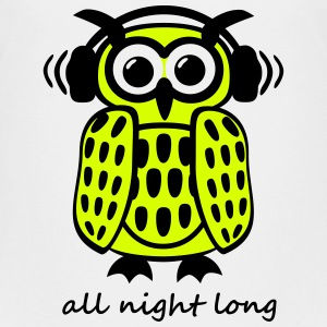 coole Eule Kopfhörer Owl Headphones all night long T-Shirts - Teenager Premium T-Shirt