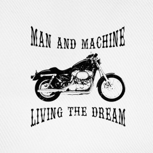 Man & Machine Living The Dream Bikers Baseball Cap - Baseball Cap