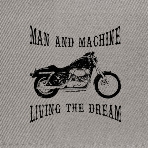 Man & Machine Living The Dream Bikers Cap - Snapback Cap