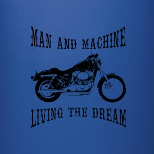 Man & Machine Living The Dream Bikers Colored Mug - Full Colour Mug