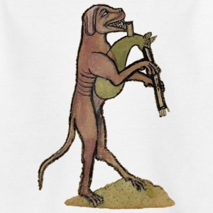 Catpipes / Dog playing cat bagpipes - Kinder T-Shirt