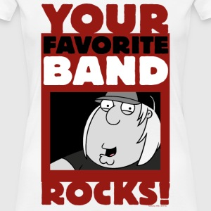 Family Guy Chris Griffin Your Favorite Band Rocks! - Frauen Premium T-Shirt