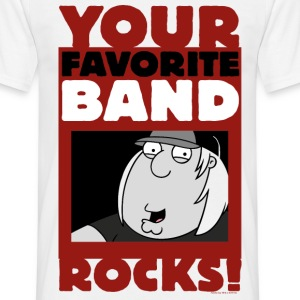 Family Guy Chris Griffin Your Favorite Band Rocks! - T-skjorte for menn