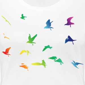 Rainbow Birds - Frauen Premium T-Shirt
