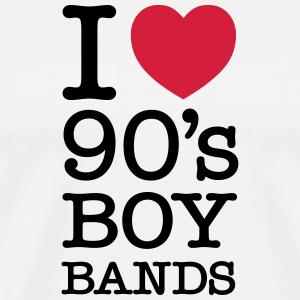 I Love 90\'s Boy Bands T-skjorter - Premium T-skjorte for menn