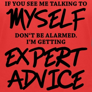If you see me talking to myself... T-shirts - Vrouwen T-shirt met V-hals
