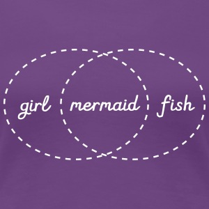 Girl - Mermaid - Fish (Intersection) T-shirts - Vrouwen Premium T-shirt