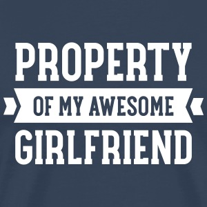 Property Of My Awesome Girlfriend T-shirts - Mannen Premium T-shirt