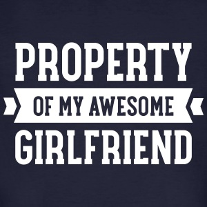 Property Of My Awesome Girlfriend T-Shirts - Männer Bio-T-Shirt