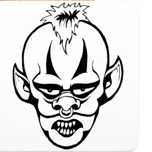 Killer Clown Mugs & Drinkware - Coasters (set of 4)