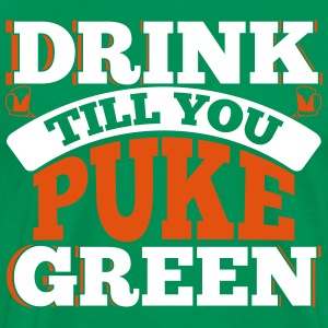 St. Patrick's Day: DRINK TILL YOU PEEK GREEN T-Shirts - Männer Premium T-Shirt