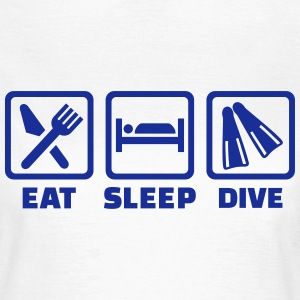 Eat sleep dive T-Shirts - Frauen T-Shirt