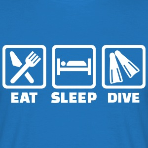Eat sleep dive T-Shirts - Männer T-Shirt