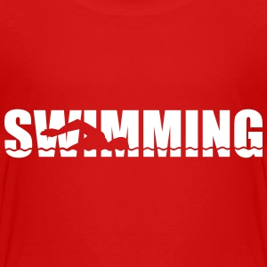 Swimming T-Shirts - Kinder Premium T-Shirt