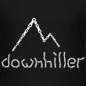 crazy Ketten Text Downhiller Berge Chain Mountains T-Shirts - Kinder Premium T-Shirt